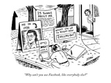"""Why can't you use Facebook, like everybody else"" - New Yorker Cartoon Premium Giclee Print by Ward Sutton"