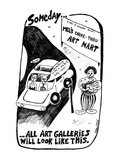 Someday... All Art Galleries Will Look Like This. - New Yorker Cartoon Premium Giclee Print by Stephanie Skalisky