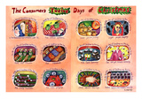 The Consumer's Twelve Days of Christmas - New Yorker Cartoon Premium Giclee Print by Stephanie Skalisky