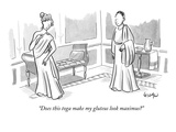 """Does this toga make my gluteus look maximus"" - New Yorker Cartoon Premium Giclee Print by Robert Leighton"