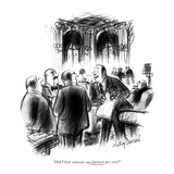 """Did I hear someone say fourteen per cent"" - New Yorker Cartoon Reproduction procédé giclée par Jr., Whitney Darrow"