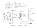 """Carnivore-or Vegetarian-class"" - Cartoon Regular Giclee Print by Jack Ziegler"