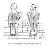 """Word around the office is that I give everyone the creeps."" - New Yorker Cartoon Premium Giclee Print by Daniel Beyer"