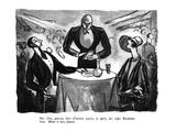HE: Oui, garçon, hors d'œuvres variés, et après, des cêpes Bordelais. -SHE… Premium Giclee Print by Peter Arno