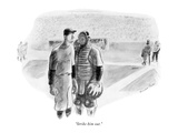 """Strike him out."" - New Yorker Cartoon Premium Giclee Print by Garrett Price"
