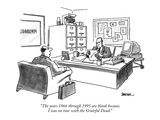 """The years 1966 through 1995 are blank because I was on tour with the Grat…"" - New Yorker Cartoon Premium Giclee Print by Jack Ziegler"