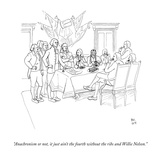 """Anachronism or not, it just ain't the fourth without the ribs and Willie …"" - New Yorker Cartoon Premium Giclee Print by Paul Noth"