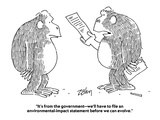 """It's from the government—we'll have to file an environmental-impact state…"" - Cartoon Regular Giclee Print by Bob Zahn"