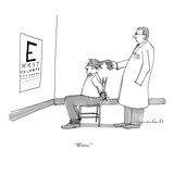 """Worse."" - New Yorker Cartoon Premium Giclee Print by Michael Crawford"