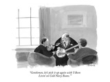 """Gentlemen, let's pick it up again with 'I Been  Livin' on Cold Navy Beans…"" - New Yorker Cartoon Premium Giclee Print by Marshall Hopkins"