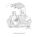 """Yes! Paul nails the Edna Vault!"" - New Yorker Cartoon Premium Giclee Print by David Borchart"