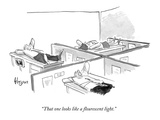 """That one looks like a flourescent light."" - New Yorker Cartoon Premium Giclee Print by John Klossner"