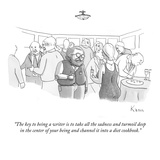 """""""The key to being a writer is to take all the sadness and turmoil deep in …"""" - New Yorker Cartoon Regular Giclee Print by Zachary Kanin"""