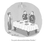 """I see you've discovered the heirloom Twinkies."" - New Yorker Cartoon Premium Giclee Print by David Borchart"