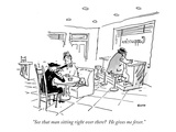 """See that man sitting right over there  He gives me fever."" - New Yorker Cartoon Regular Giclee Print by George Booth"