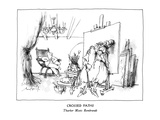 Crossed Paths-Thurber Meets Rembrandt - New Yorker Cartoon Premium Giclee Print by Ronald Searle