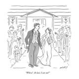 """Whew!  At last, I can eat!"" - New Yorker Cartoon Premium Giclee Print by Kim Warp"