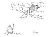 God has tattoo of Adam and Eve's banishment from Eden. - New Yorker Cartoon Premium Giclee Print by Mike Twohy