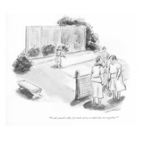 """I tell you it's silly for both of us to rush the net together!"" - New Yorker Cartoon Premium Giclee Print by Helen E. Hokinson"