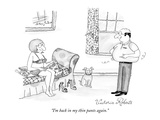 """I'm back in my thin pants again."" - New Yorker Cartoon Premium Giclee Print by Victoria Roberts"