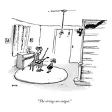 """The strings are catgut."" - New Yorker Cartoon Regular Giclee Print by George Booth"
