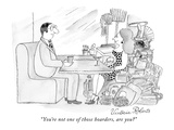 """You're not one of those hoarders, are you"" - New Yorker Cartoon Premium Giclee Print by Victoria Roberts"