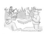Decoys for ducks - Cartoon Regular Giclee Print by J.P. Rini
