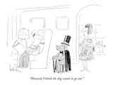 """Howard, I think the dog wants to go out."" - New Yorker Cartoon Premium Giclee Print by Arnie Levin"