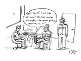 "A polygraph says out loud, ""He's lying! Just like all men! Oh god, mother …"" - New Yorker Cartoon Premium Giclee Print by Farley Katz"