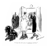 """I hope this isn't going to emphasize anything."" - New Yorker Cartoon Premium Giclee Print by Helen E. Hokinson"