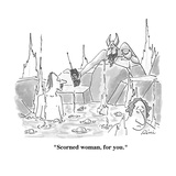 """Scorned woman, for you."" - Cartoon Regular Giclee Print by J.P. Rini"