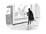 Batman watching through the maternity ward window as his newborn infant cl… - New Yorker Cartoon Premium Giclee Print by Danny Shanahan