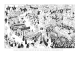 The Rightist Opposition Forms a United Front and Takes Over Union Square f… - New Yorker Cartoon Giclee Print by Carl Rose