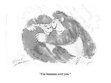 """I'm bananas over you."" - Cartoon Regular Giclee Print by Bernard Schoenbaum"