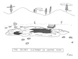 """THE SECRET ELEPHANT ICE SKATING RINK"" - New Yorker Cartoon Premium Giclee Print by Zachary Kanin"