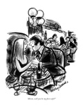 """Alison, will you be my first wife"" - New Yorker Cartoon Premium Giclee Print by Jr., Whitney Darrow"