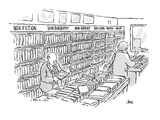 bookstore shelf categories:  non fiction, non biography, non history, non … - Cartoon Regular Giclee Print by John Jonik