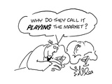 Why do they call it playing the market' - Cartoon Regular Giclee Print by Bill Lee