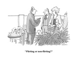 """Flirting or non-flirting"" - Cartoon Regular Giclee Print by J.P. Rini"