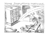 Home Shoplifting Network - Cartoon Regular Giclee Print by John O'brien