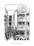 """Oh dear, the bell! We have to go back."" - New Yorker Cartoon Premium Giclee Print by Everett Opie"