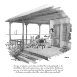 """I've got an idea for a story: Gus and Ethel live on Long Island, on the N…"" - New Yorker Cartoon Regular Giclee Print by George Booth"