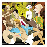 Illustration of people engaging in sexual activities. - New Yorker Cartoon Giclee Print by Robert Risko
