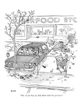 """One of you boys go help Mom with the groceries."" - New Yorker Cartoon Premium Giclee Print by George Booth"