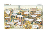 Autumn in New York - New Yorker Cartoon Premium Giclee Print by Edward Sorel