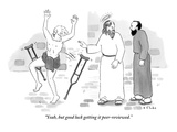 """Yeah, but good luck getting it peer-reviewed."" - New Yorker Cartoon Premium Giclee Print by Emily Flake"