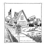 Drug Free Zone  - Cartoon Giclee Print by John Jonik