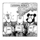 Liberal Media - Cartoon Giclee Print by John Jonik