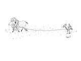Sheep snagged on bush starts unraveling. - Cartoon Regular Giclee Print by Arnie Levin