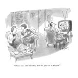 """From now until October, he'll be quiet as a pussycat."" - New Yorker Cartoon Premium Giclee Print by Barney Tobey"